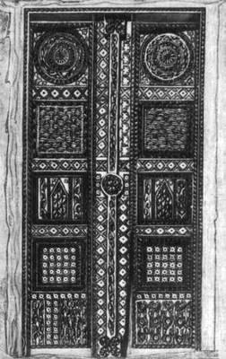 Дом в Ванче. Резная дверь. Горно-Бадахшанская автономная область.