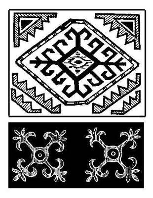 Мотивы орнамента киргизов Восточного Памира. Горно-Бадахшанская автономная область.