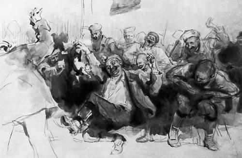 «Зазубрина». Илл. И. Е. Репина. 1899. Горький Максим.