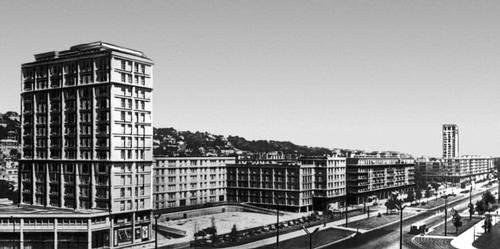 О. Перре. Авеню Фош в Гавре. Строительство периода 1947—56. Градостроительство.