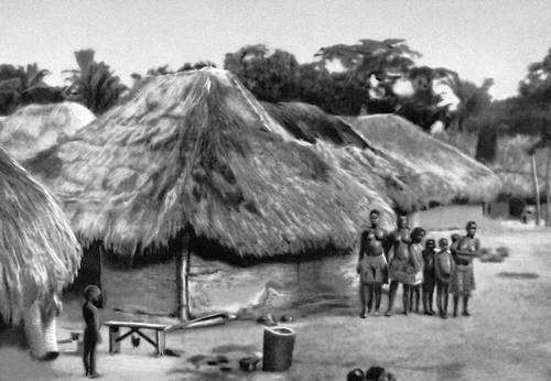 Народное жилище на юге страны. Дагомея.
