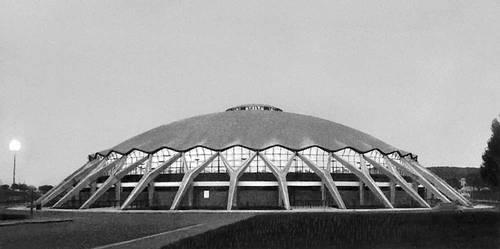 Палаццетто (Малый дворец спорта) в Риме. 1957. Архитекторы П. Л. Нерви, А. Вителлоцци. Дворец.
