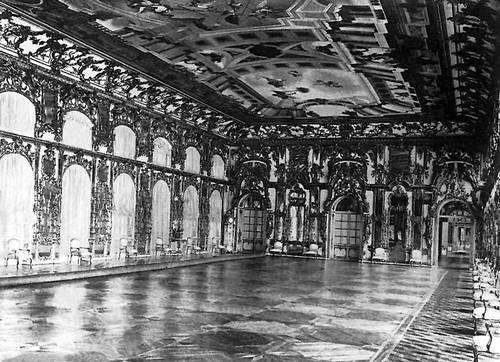Большой дворец в г. Пушкине. 1743—48, архитекторы Ан. В. Квасов, С. И. Чевакинский. Перестроен в 1752—57, архитектор В. В. Растрелли. Тронный зал. Дворец.