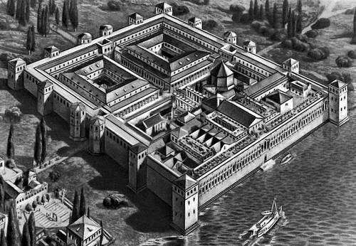Дворец Диоклетиана в Сплите (Хорватия). Около 300. Реконструкция. Дворец.