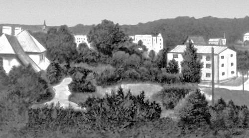 Село Руана колхоза «Красный Октябрь» в Цесисском районе Латвийской ССР. Деревня.