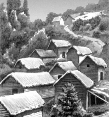 Деревня индейцев кечуа. Южная Америка. Деревня.