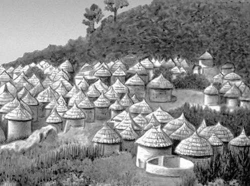 Деревня в Нигерии. Деревня.