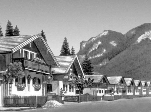Деревня в Верхней Баварии. ФРГ. Деревня.