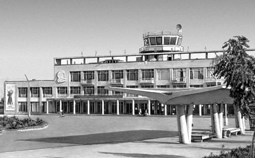 Душанбе. Аэровокзал. 1962. Архитекторы В. А. Афанасьев, А. И. Богачева, инженер З. М. Ярмолинский. Душанбе.