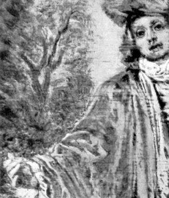 А. Ватто. «Безразличный» (фрагмент). 1716. Лувр. Париж. Живопись.