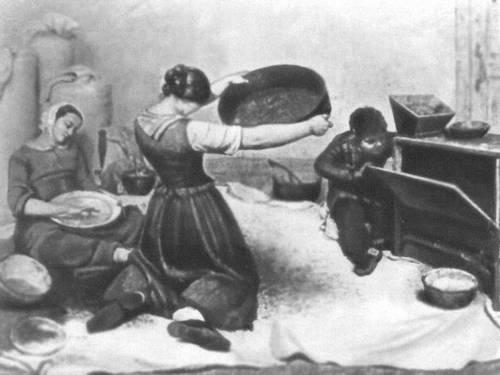 Г. Курбе. «Веяльщицы». 1854. Музей изящных искусств. Нант. Живопись.