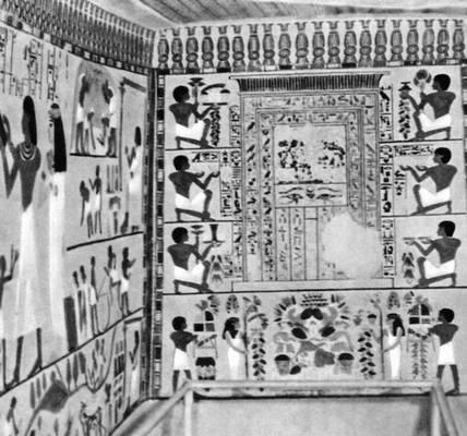 Роспись гробницы Нахта в Фивах. XVIII династия. Конец 15 в. до н. э. Живопись.
