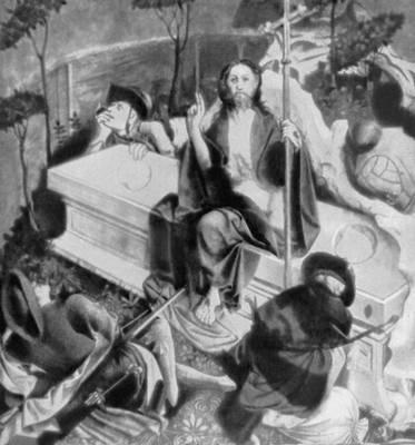 Х. Мульчер. «Воскресение». Фрагмент алтаря из Вурцаха (1437). Картинная галерея. Берлин-Далем. Живопись.