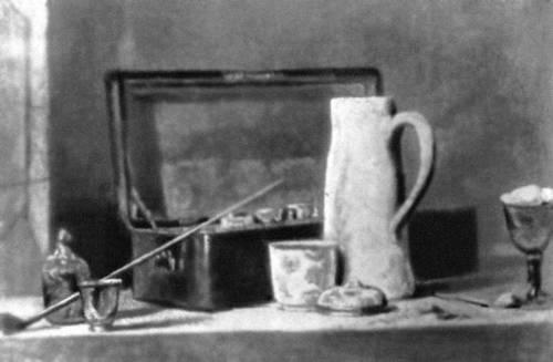 Живопись Б. Шарден. «Трубки и кувшин». 1760—63. Лувр. Париж. Живопись.