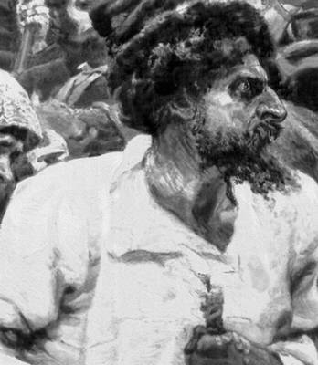 В. И. Суриков. «Утро стрелецкой казни» (фрагмент). 1881. Третьяковская галерея. Москва. Живопись.