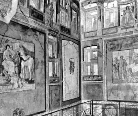 Фрески дома Веттиев в Помпеях. 63—79 н. э. Живопись.