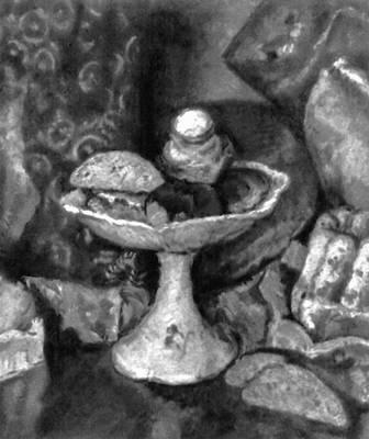 И. И. Машков. «Снедь московская: хлебы» (фрагмент). 1924. Третьяковская галерея. Москва. Живопись.