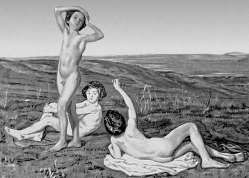 А. А. Иванов. «Три нагих мальчика». До 1841. Русский музей. Ленинград. Живопись.