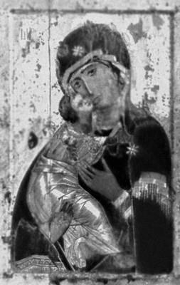 «Владимирская богоматерь». Икона византийской школы. 1-я половина 12 в. Третьяковская галерея. Москва. Живопись.