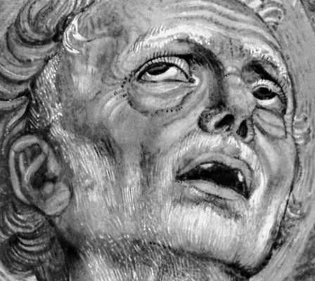Андреа дель Кастаньо. «Св. Иероним». Деталь фрески «Троица» в церкви Сантиссима-Аннунциата во Флоренции. 1454—55. Живопись.