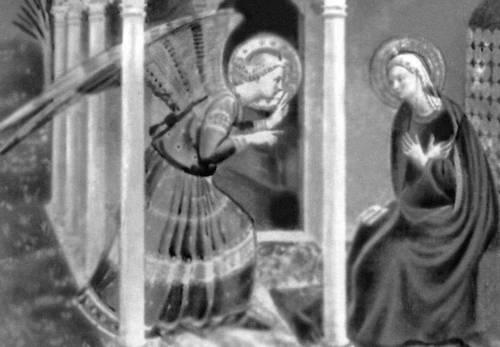 Фра Беато Анджелико. «Благовещение». После 1433. Епархиальный музей. Кортона. Живопись.