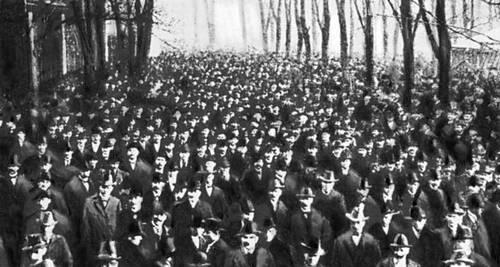 Бастующие горняки Рура. Германия. 1905. Забастовка.