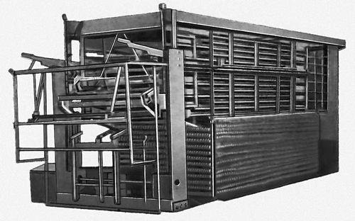 Рис. 1. Общий вид скороморозильного конвейерного аппарата. Замораживание пищевых продуктов.