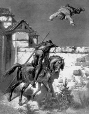 Илл. к роману М. Сервантеса «Дон-Кихот». Гравюра на дереве по рис. Г. Доре. Париж. 1862—63. Иллюстрация.