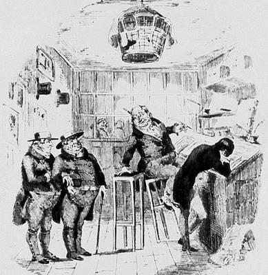 Х. Н. Браун (Физ). Илл. к роману Ч. Диккенса «Николас Никльби». Гравюра на дереве. Лондон. 1839 Иллюстрация.