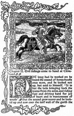 У. Моррис и У. Крейн. Илл. к «Истории сверкающей долины». Гравюра на дереве. Лондон. 1894. Иллюстрация.