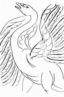 А. Матисс. Илл. к «Стихам» С. Малларме. Офорт. Лозанна. 1932. Иллюстрация.