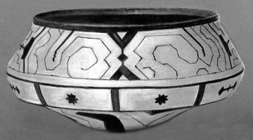 Керамическая расписная чаша. Индейцы пано (Перу). Музей американских индейцев. Нью-Йорк. Индейцы.
