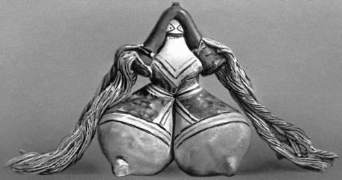 Кукла. Керамика, хлопок, воск. Индейцы каража (Бразилия). Музей Паулиста. Сан-Паулу. Индейцы.