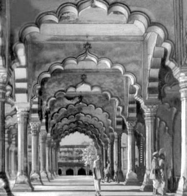 Зал Дивани-Кхас в Агре. 1637. Индия.