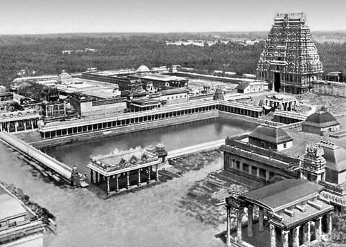 Храмовый комплекс в Чидамбараме 10 — 16 вв. Индия.