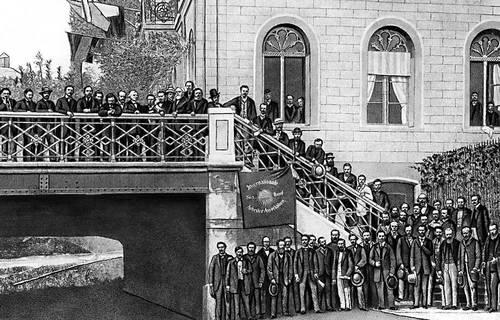 Делегаты Базельского конгресса 1-го Интернационала (1869). Интернационал 1-й.