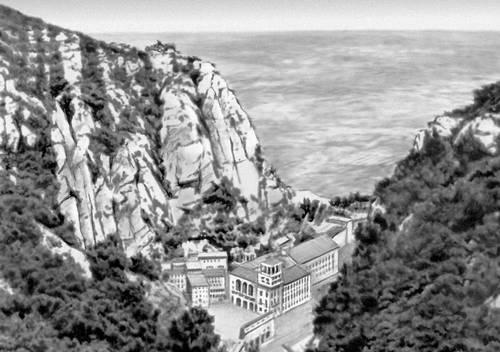 Горы Монтсеррат в Каталонии. Испания.
