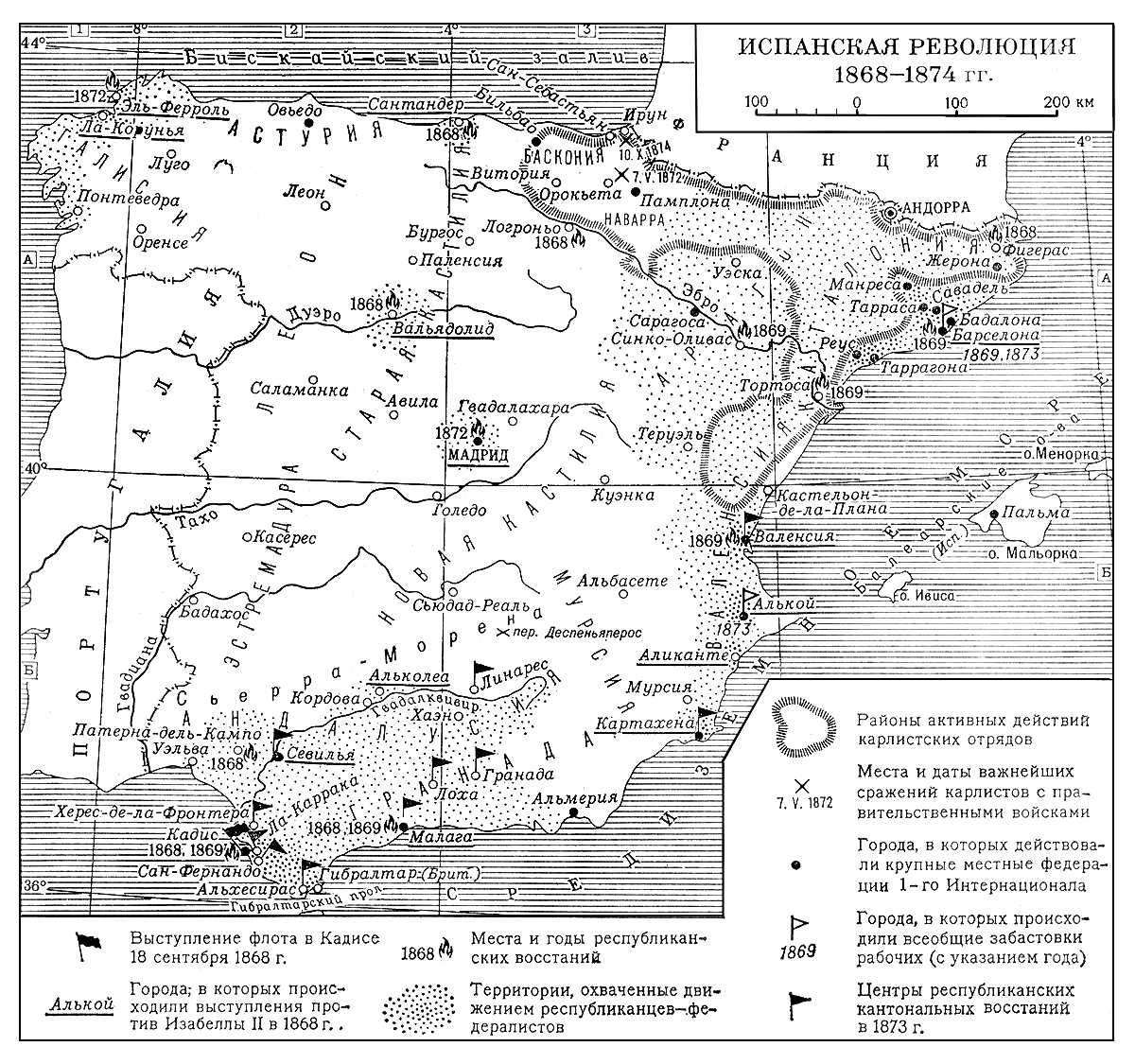 Испанская революция 1868—1874 гг. Испанские революции 19 века.