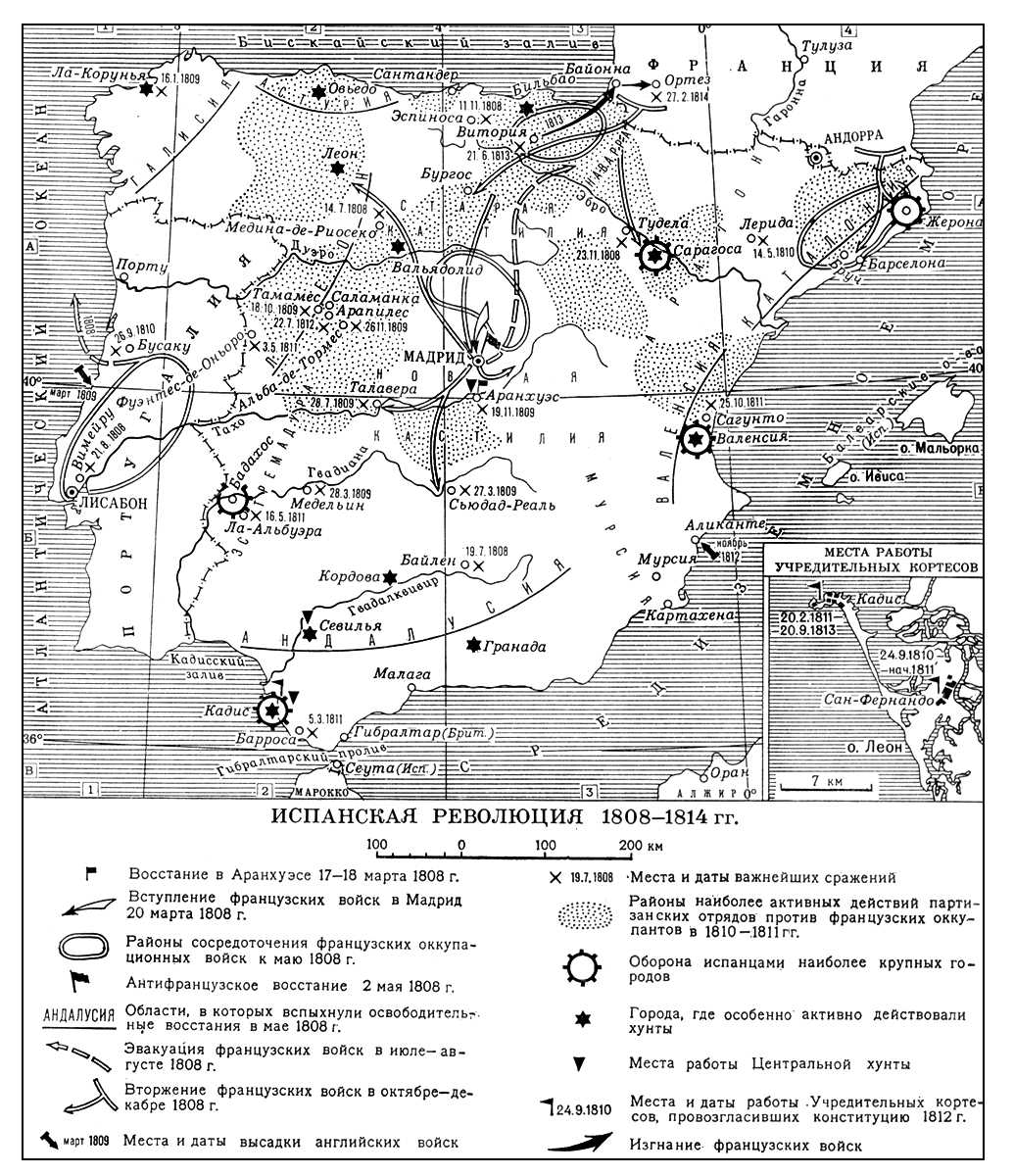 Испанская революция 1808—1814 гг. Испанские революции 19 века.