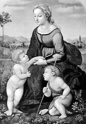Рафаэль. «Мадонна с младенцем и Иоанном Крестителем». 1507. Лувр. Париж. Италия.