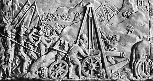 Переход через Альпы армии Франциска I. Барельеф гробницы Франциска I работы Пьера Бонтана. Около 1555. Аббатство Сен-Дени, близ Парижа. Итальянские войны 1494-1559.