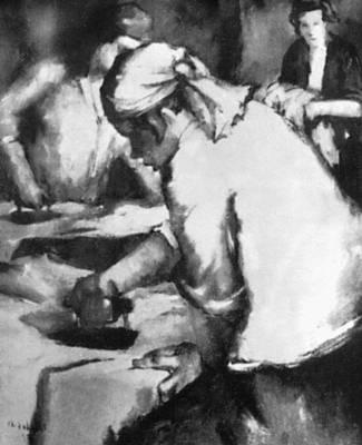 А. Йохани. «Гладильщицы белья». 1932. Тартуский художественный музей. Тарту. Йохани Андрус.