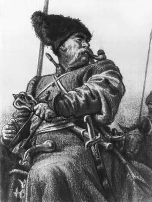 «Тарас Бульба». Илл. Е. А. Кибрика. 1945. Кибрик Евгений Адольфович.