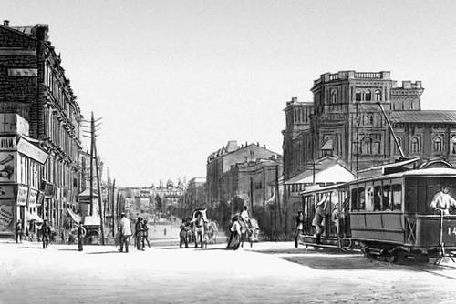 Киев. Крещатик в начале 20 в. Киев.