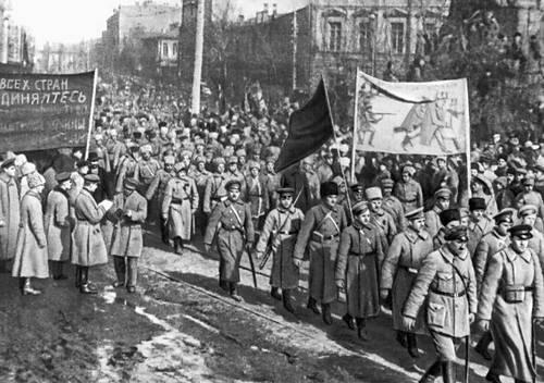 Вступление Красной Армии в Киев. 1919. Киев.
