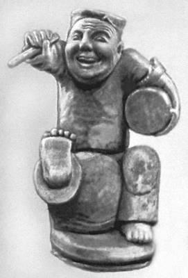 Статуэтка, изображающая музыканта-барабанщика. 3 в. до н. э. — 3 в. н. э. Китай.