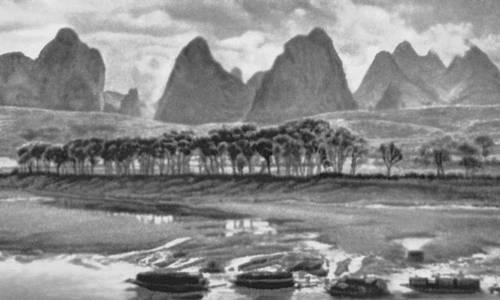 Среднегорный рельеф на юге Китая. Китай.