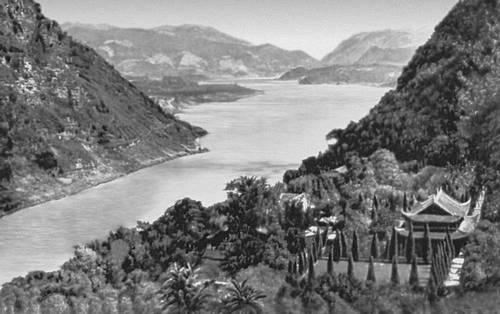Река Янцзы в среднем течении. Китай.