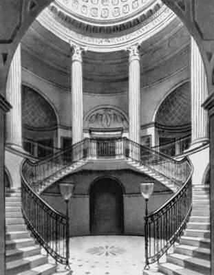 Дж. Пейн. Замок-дворец Уордор в Уилтшире. 1768—76. Вестибюль. Классицизм.