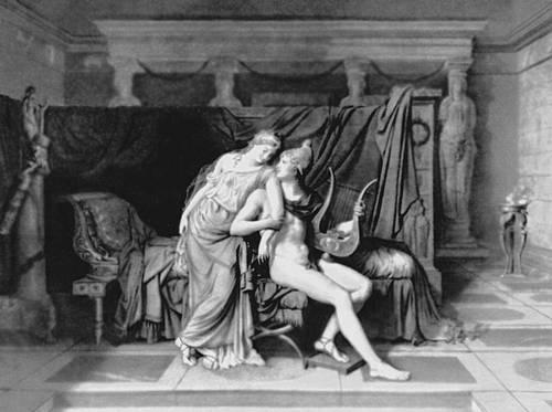 Ж. Л. Давид. «Парис и Елена». 1788. Лувр. Париж. Классицизм.